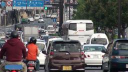 Busy traffic lane in Japan Stock Video Footage