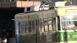 Trams in Hiroshima, Japan Stock Video Footage
