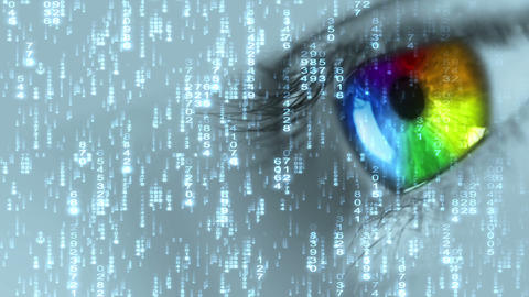 Digital eye Stock Video Footage