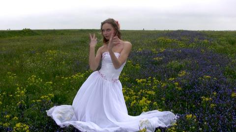 Bride in flowers Stock Video Footage