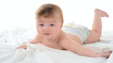 Baby small child playing Stock Video Footage
