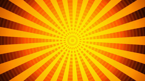 hypnotize orange rays Animation