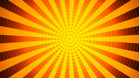 hypnotize orange rays Stock Video Footage