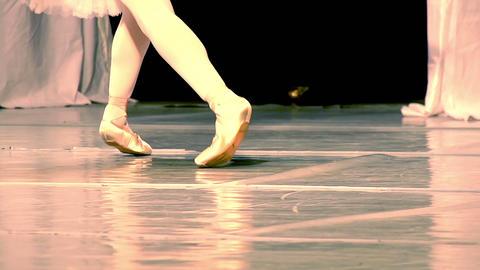 Ballerina Legs Stock Video Footage