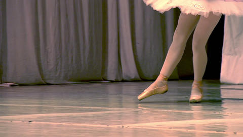 Ballerina Legs Stock Video Footage