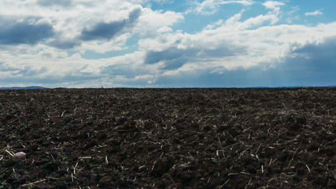 Plowed field, Motion controlled dolly, Time Lapse Footage
