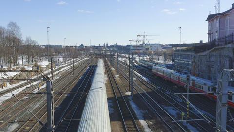 Railroad timelapse Stock Video Footage