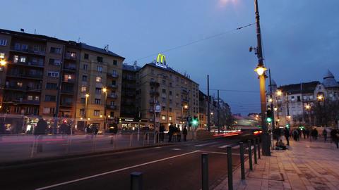 4 K Getting Dark Budapest Hungary Winter Timelapse 2 Footage