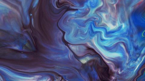 Pastel colors. Blue expanses. White, purple stripes on a blue background. Moving Live Action
