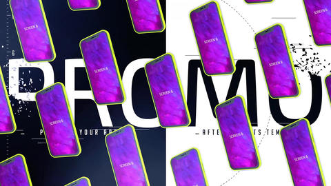 Glitch App Promo After Effects Template