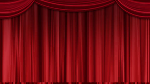 Stage curtain (green background)