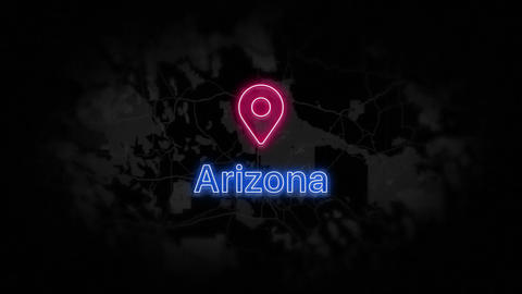 Arizona State of the United States of America Animation