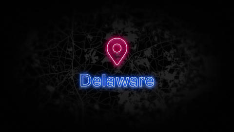 Delaware State of the United States of America Animation