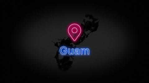 Guam State of the United States of America Animation
