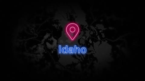Idaho State of the United States of America Animation