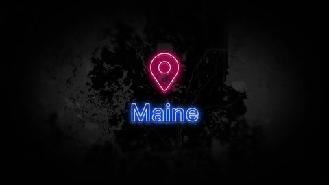 Maine State of the United States of America Animation