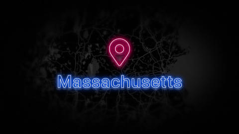 Massachusetts State of the United States of America Animation