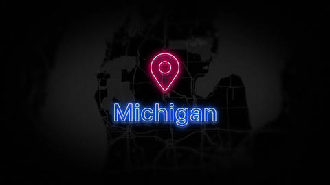 Michigan State of the United States of America Animation