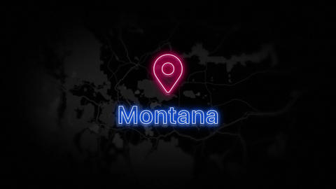 Montana State of the United States of America Animation