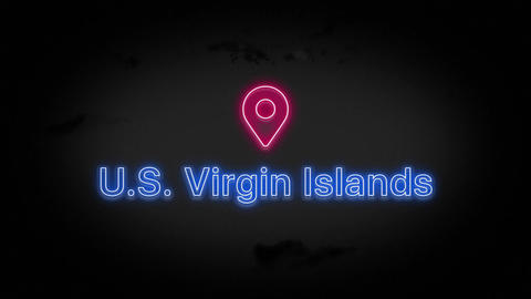 US Virgin Islands State of the United States of America Animation