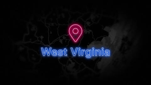 West Virginia State of the United States of America Animation