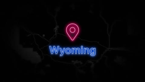 Wyoming State of the United States of America Animation