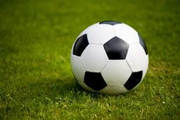Black white leather football 사진