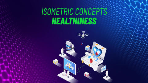 Healthiness - Isometric Concept After Effects Template