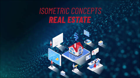 Real Estate - Isometric Concept After Effects Template