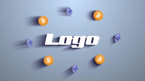 Bitcoin Crypto Mining Logo After Effects Template