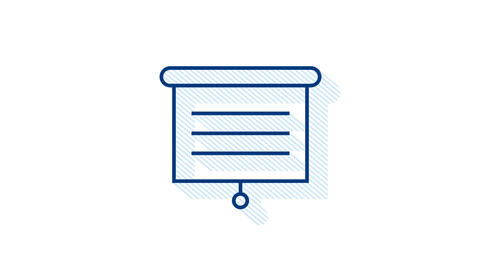 Office icon. Web icon set. Office, great design for any purposes. Motion Animation