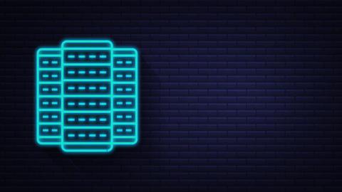Technology icon on white background. Information technology. Digital Animation