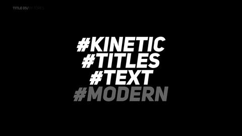 Kinetic Typography Titles V2 Apple Motion Template