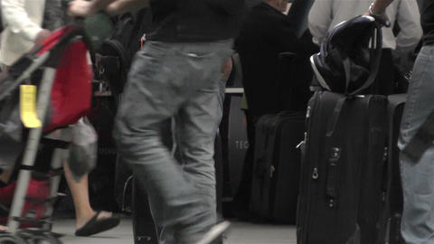 Airport Passengers Line 1 Stock Video Footage