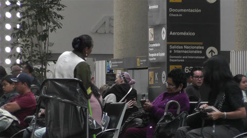 Benito Juarez Airport Domestic Terminal Mexico City 1 Stock Video Footage