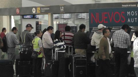 Benito Juarez Airport Domestic Terminal Mexico City 5 Stock Video Footage