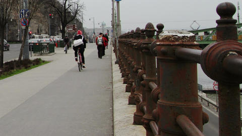 Budapest Hungary Winter Timelapse 2 Stock Video Footage