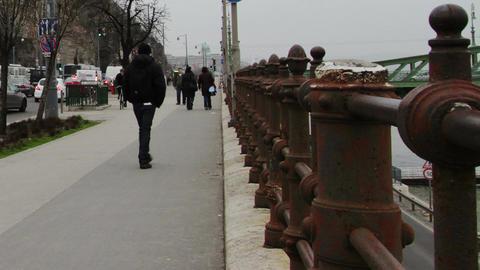 Budapest Hungary Winter Timelapse 2 Footage