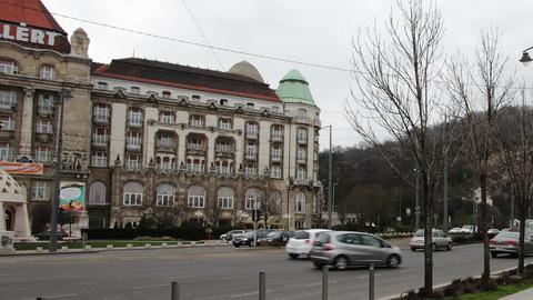 Budapest Hungary Winter Timelapse 4 zoom Footage