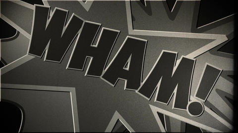 Comic Design 6 vintage Stock Video Footage