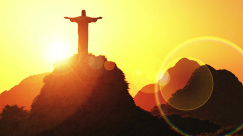 Corcovado Sunset 1 Animation