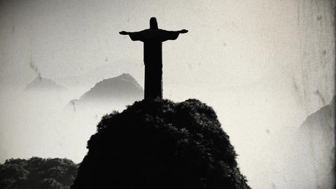 Corcovado Sunset 5 vintage Animation