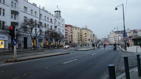 Getting Dark Budapest Hungary Winter Timelapse 1 Footage