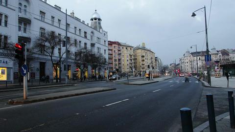 Getting Dark Budapest Hungary Winter Timelapse 1 Stock Video Footage