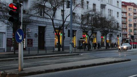 Getting Dark Budapest Hungary Winter Timelapse 3 Footage