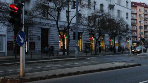 Getting Dark Budapest Hungary Winter Timelapse 3 Stock Video Footage