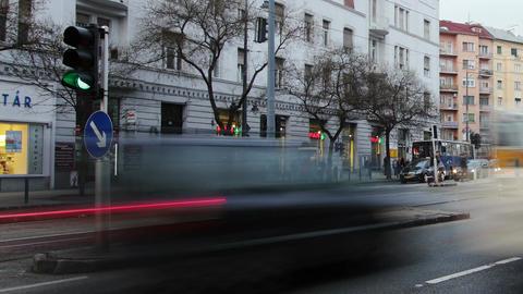 Getting Dark Budapest Hungary Winter Timelapse 5 p Stock Video Footage