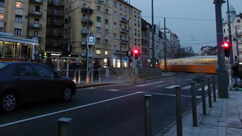 Getting Dark Budapest Hungary Winter Timelapse 7 Stock Video Footage