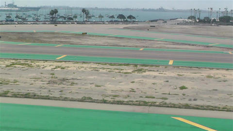 Landing in San Diego Airport Stock Video Footage