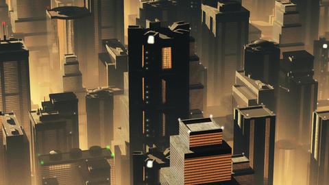 Metropolis Aerial 1 Stock Video Footage
